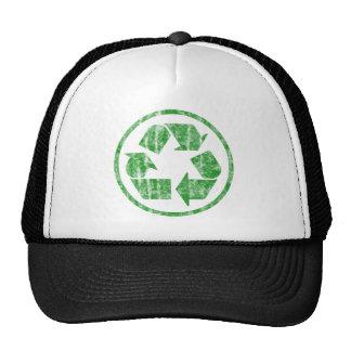 Reciclando para ahorrar la tierra del planeta, gorro de camionero
