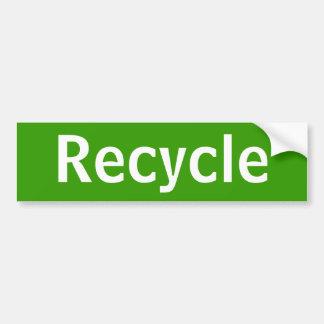Recicle a la pegatina para el parachoques pegatina para coche