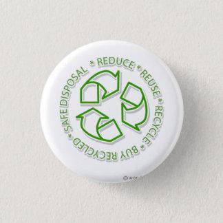 recicle chapa redonda de 2,5 cm