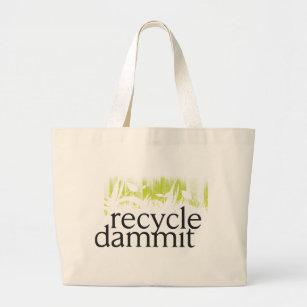 Bolso De Tela Gigante recicle dammit