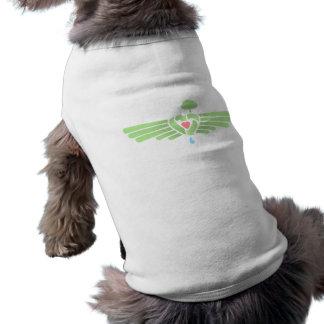 Recicle el ala del corazón camiseta sin mangas para perro