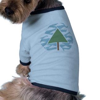 Recicle - el árbol -1 camiseta con mangas para perro