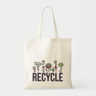 Recicle el bolso reutilizable