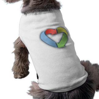 Recicle el corazón - color camiseta sin mangas para perro