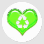 Recicle el símbolo pegatina redonda
