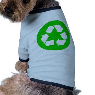 Recicle el símbolo - reduzca, reutilice, recicle camisa de perrito