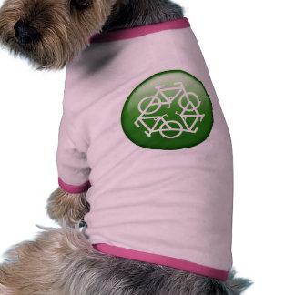 Recicle el verde ropa de mascota