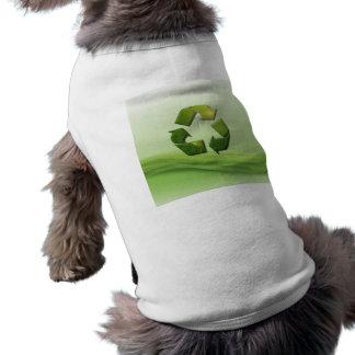 Recicle la camisa del mascota del símbolo camiseta sin mangas para perro