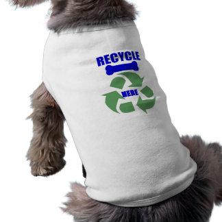 Recicle la camisa del perro de los huesos camiseta sin mangas para perro