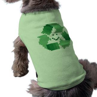 Recicle la camisa del perro del símbolo ropa de perro