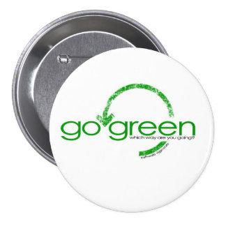 Recicle la flecha verde chapa redonda de 7 cm