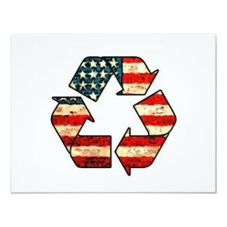 Recicle la invitación de América Invitación 10,8 X 13,9 Cm