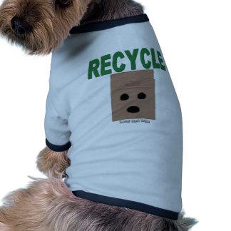 Recicle las bolsas de papel camiseta con mangas para perro