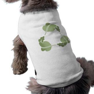 Recicle - las hojas camiseta sin mangas para perro