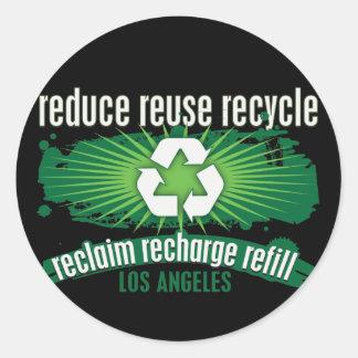 Recicle Los Ángeles Pegatinas