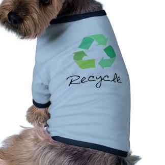 ¡Recicle! ¡Ponga verde los diseños para la ecologí Camiseta Con Mangas Para Perro