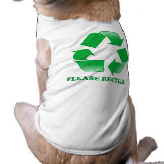 Recicle por favor. Reciclaje de conciencia. Va el  Camiseta Sin Mangas Para Perro