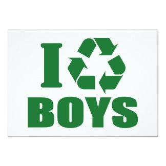 Reciclo a muchachos invitación 12,7 x 17,8 cm