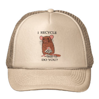 ¿Reciclo, hace usted? Gorro