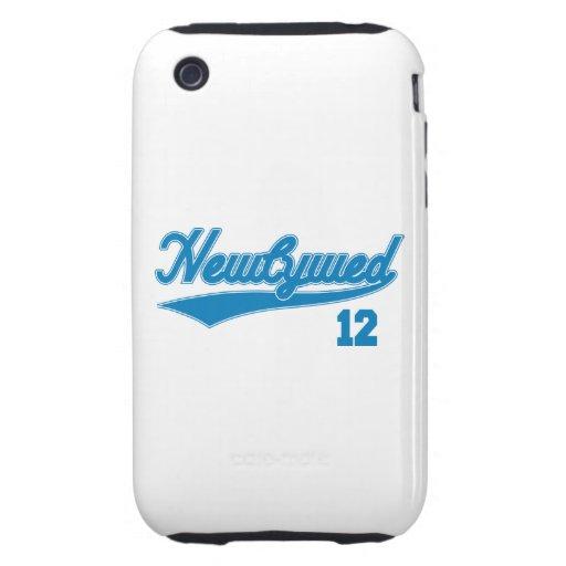 Recién casado 12 (azul de la escritura del béisbol tough iPhone 3 cobertura