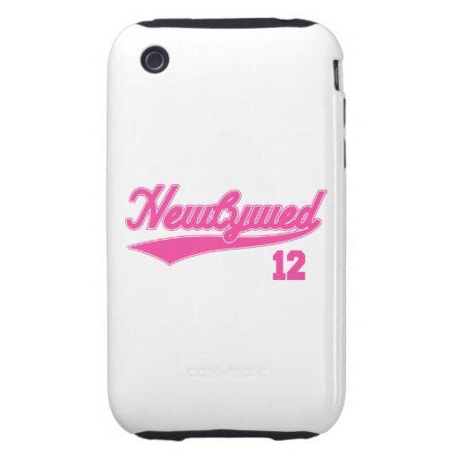 Recién casado 12 (rosa de la escritura del béisbol tough iPhone 3 carcasa