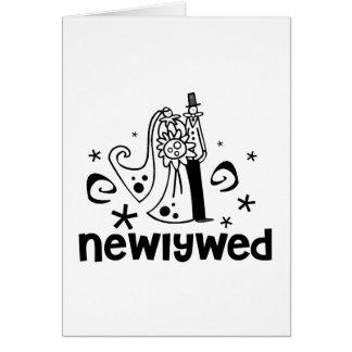 Recién casado de novia y del novio tarjeta de felicitación
