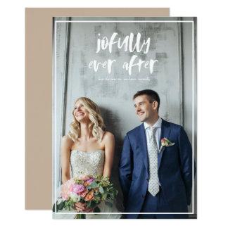 Recién casado nuestra primera tarjeta de la foto