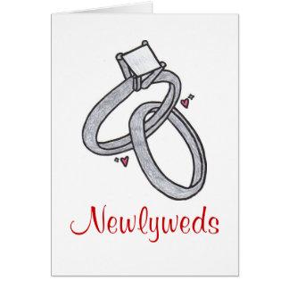 Recienes casados felicitación