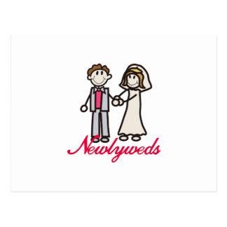 Recienes casados postal