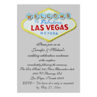 Recinto de la invitación de la recepción nupcial tarjetas de visita grandes