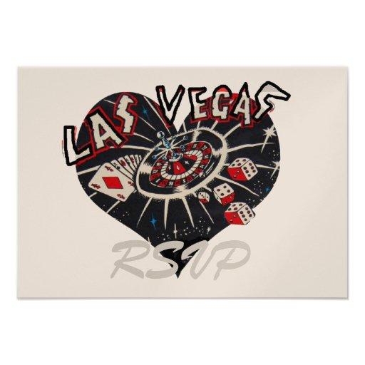 Recinto de la invitación de RSVP Las Vegas
