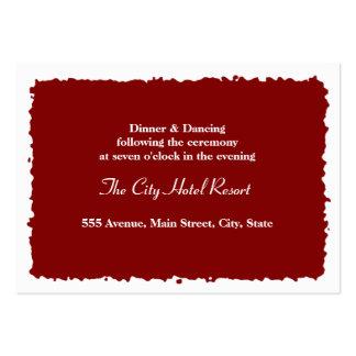 Recinto de la recepción del sello de la cera plantillas de tarjetas de visita