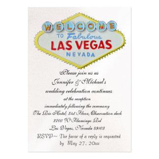 Recinto de la recepción nupcial de Las Vegas Tarjeta De Negocio