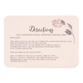 Recinto de las direcciones del boda de una noche invitación 8,9 x 12,7 cm
