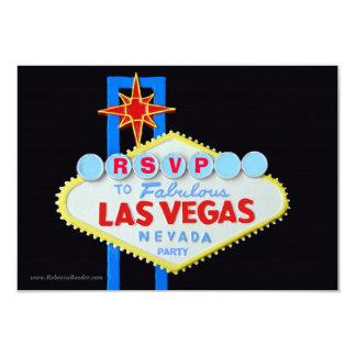 Recinto de RSVP del fiesta del tema de Las Vegas Invitación 8,9 X 12,7 Cm