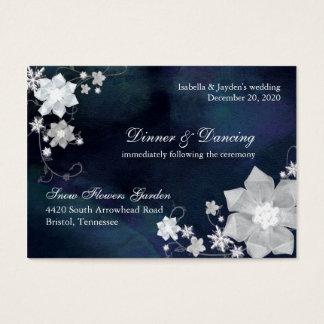 Recinto floral Jeweled de la recepción nupcial del Tarjeta De Negocios