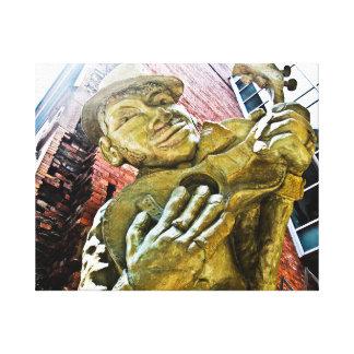 Reclinación del hombre del jazz impresión en lienzo