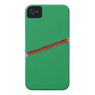 Reclinación del lápiz de color verde oscuro iPhone 4 Case-Mate carcasa