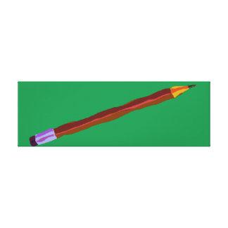 Reclinación del lápiz de color verde oscuro lona estirada galerías