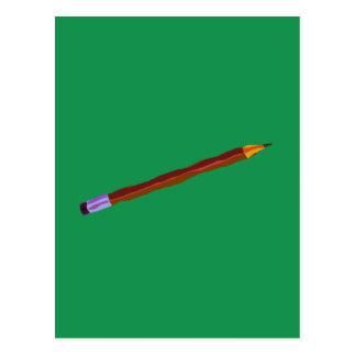 Reclinación del lápiz de color verde oscuro postal