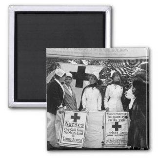 Reclutamiento de las enfermeras imán cuadrado