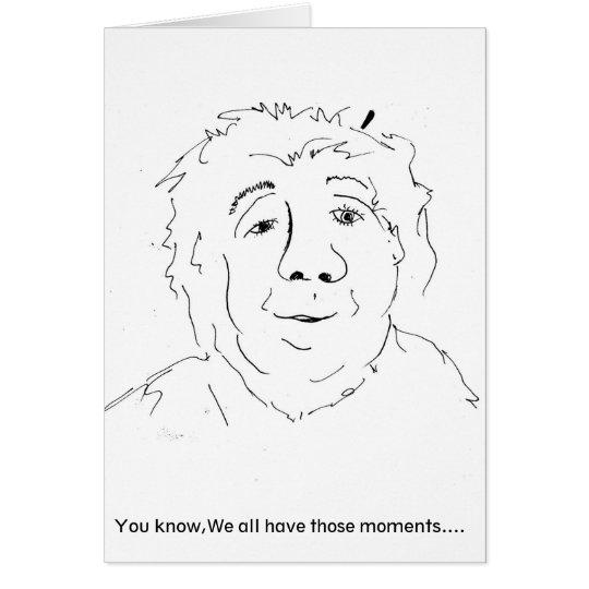 Recogedor de la nariz tarjeta de felicitación