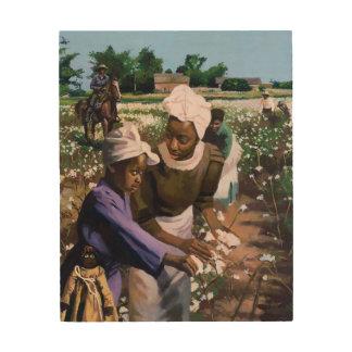 Recogedores de algodón 2003 cuadros de madera