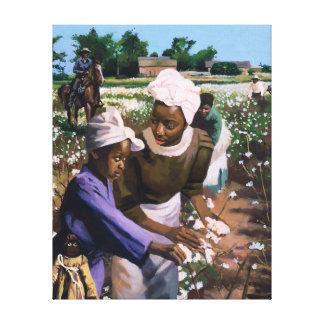 Recogedores de algodón 2003 impresión en lona estirada