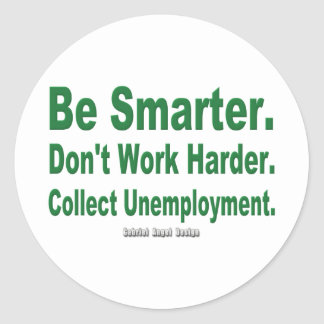 Recoja el desempleo etiquetas