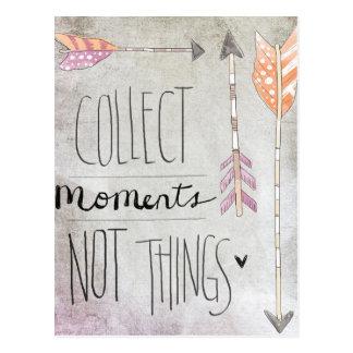 Recoja las cosas de los momentos no postal