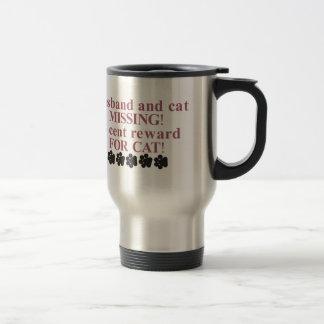 Recompensa de 25 centavos por gato taza de viaje de acero inoxidable