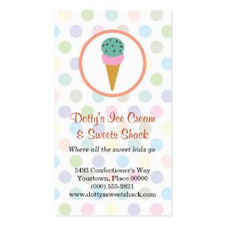 Recompensas de la lealtad de la tienda de helado plantilla de tarjeta de visita