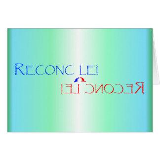 RECONCILIACIÓN de la tarjeta de felicitación