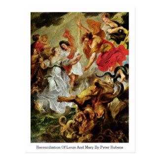 Reconciliación de Louis y de Maria de Peter Rubens Postal